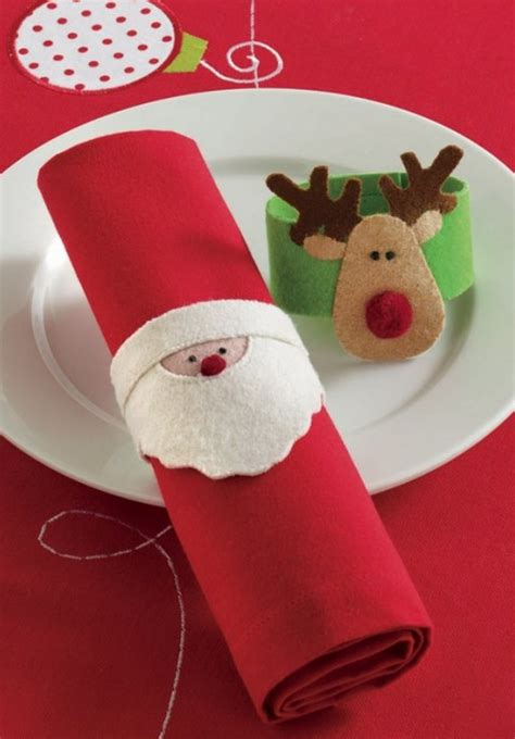 Ideas para hacer servilleteros de Navidad   Flota