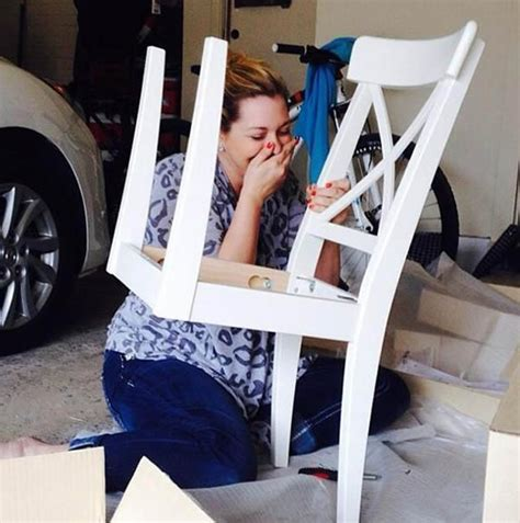 Ikea Shame: The Face After Fail Of Building A Ikea Chair
