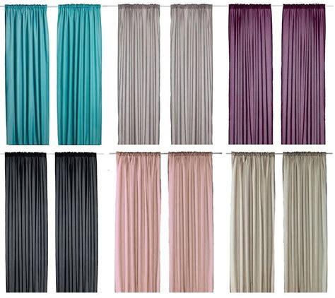 Ikea VIVAN Pair of Curtains 2 panels  Purple, Turquoise ...