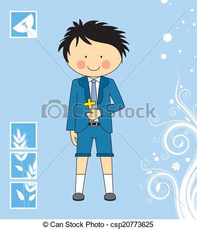 Ilustraciones de Vectores de niño, primero, comunión ...