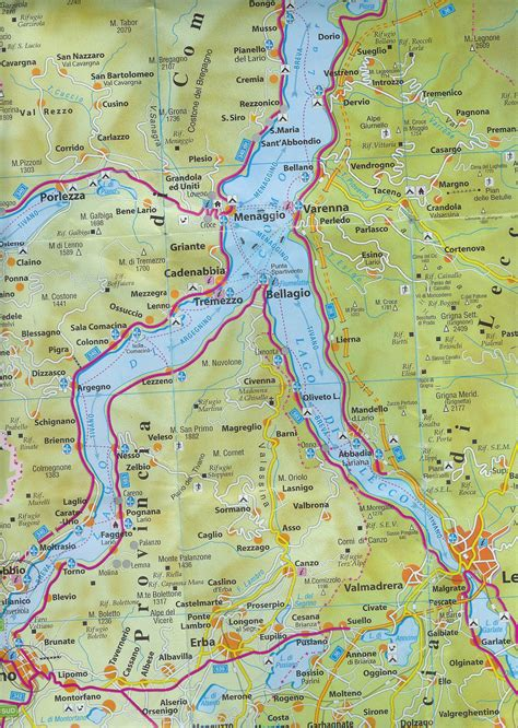 Image Gallery lago di como map