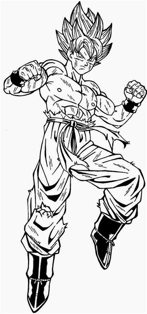 Imagen de Goku para colorear   Dibujos De