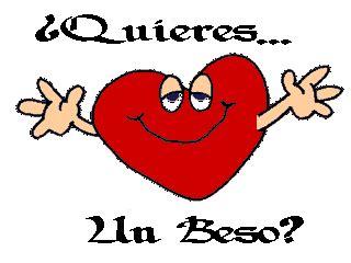 Imágenes animadas de Besos, Gifs de Amor > Besos