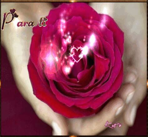 Imagenes Animadas De Rosas Con Corazones