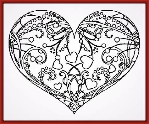 Imagenes de Corazones para Pintar e Imprimir | Fotos de ...