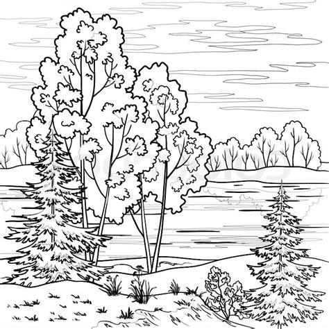 imágenes de paisajes lindos para dibujar