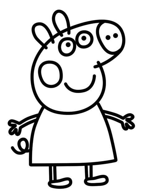 Imágenes de Peppa Pig Para Colorear   Dibujos De