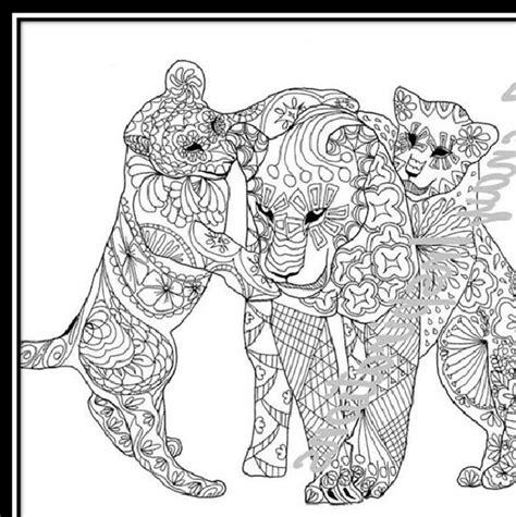 Imágenes Tiernas De Animales Para Colorear Para Adultos ...