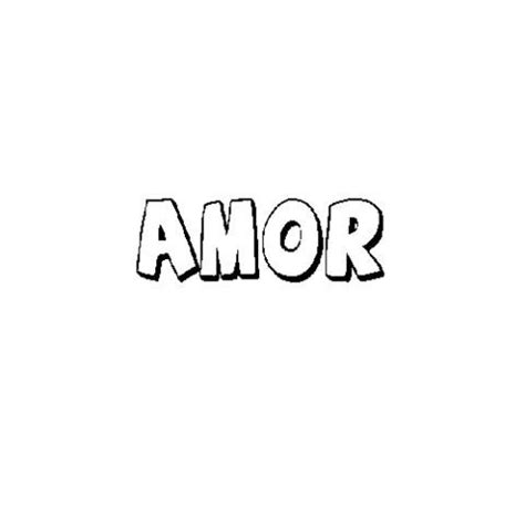 Imprimir: Dibujo de la palabra amor para colorear con los ...