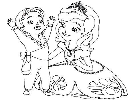 Imprimir gratis dibujos para colorear – la Princesa Sofía