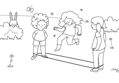 Imprimir: Saltar a la goma: dibujo para colorear e imprimir
