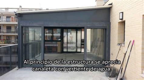 Instalación cerramientos de aluminio en terrazas   YouTube