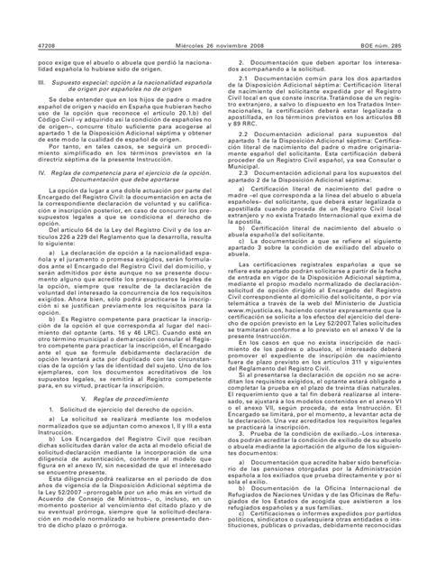 Instrucción da 7ma. ley 52.07