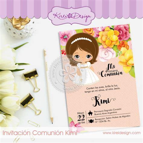 Invitación Comunión Kimi – KireiDesign