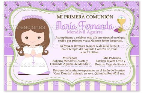 Invitacion Primera Comunion Kit Imprimible Niña Bautizo ...
