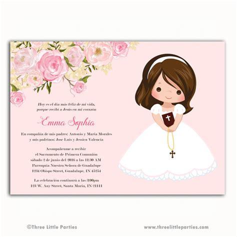 Invitacion Primera Comunión primero flores por ...