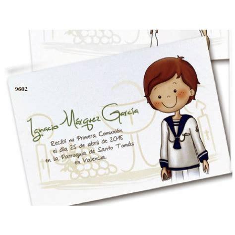 Invitación Recordatorio Comunión Niño Sonrisa | Detalles ...