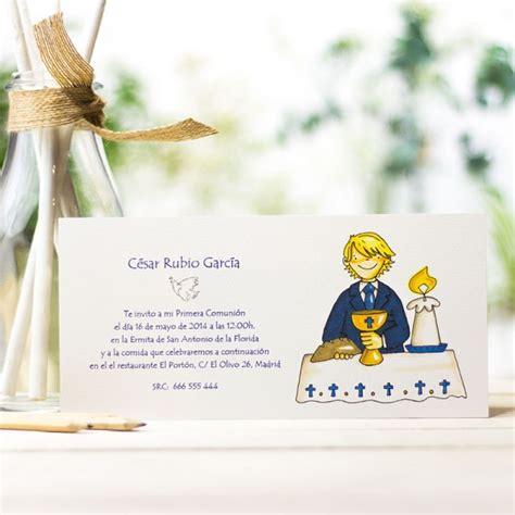 Invitaciones Comunión para niño, personalizada con dibujos ...