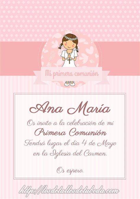 Invitaciones de comunión para descargar gratis | Descargas ...