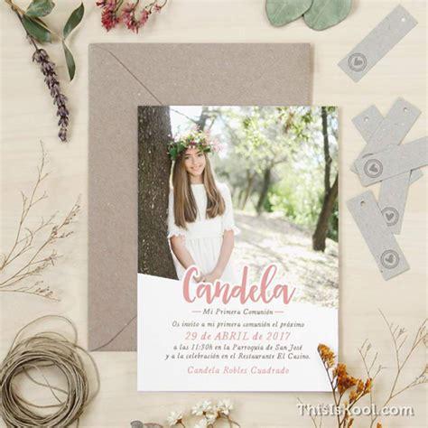 Invitaciones y recordatorios Comunión con Foto – El Blog ...