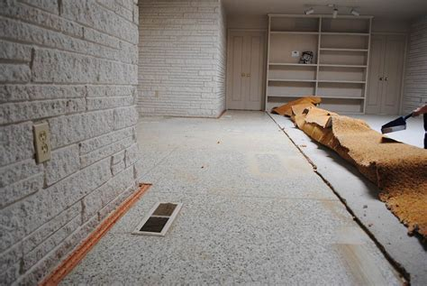 Is there beautiful terrazzo flooring under all the carpet ...