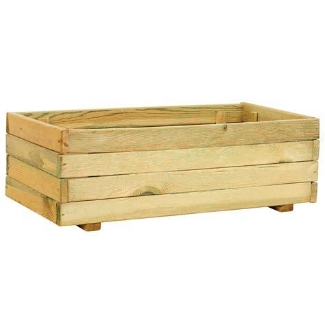 Jardinera de madera MADERA RECTANGULAR Ref. 14098553 ...