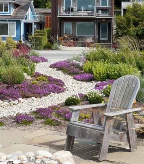 Jardines con piedras blancas   pisos Al día   pisos.com