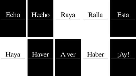 Juegos de palabras para aprender a escribir correctamente ...