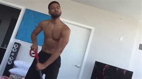 Jussie Smollett Cleaning his House.   YouTube
