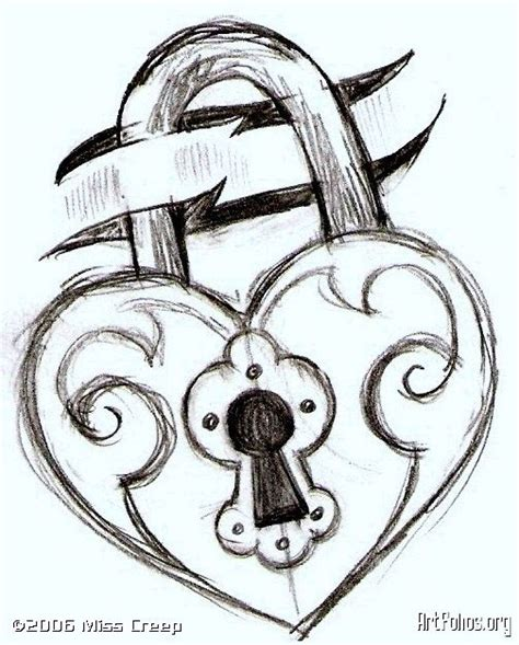 key and lock drawings | this is just a sketch for a simple ...