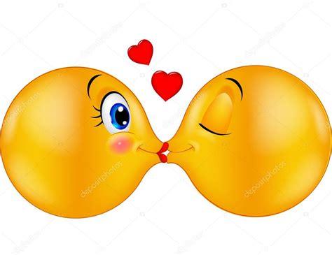 Kissing emoticon cartoon — Stock Vector © tigatelu #63465621