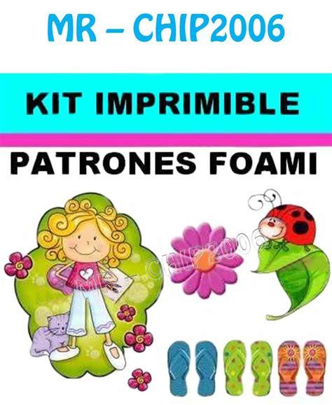 Kit Imprimible Patrones Para Foami Goma Eva   Bs. 2.500,00 ...