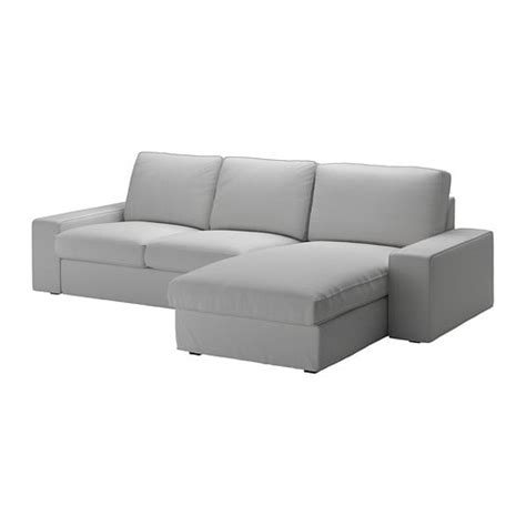 KIVIK Sofá 3 plazas   +chaiselongue/Orrsta gris claro   IKEA