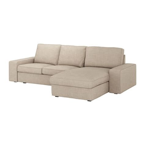 KIVIK Sofá de 2 plazas y chaiselongue   Hillared beige   IKEA