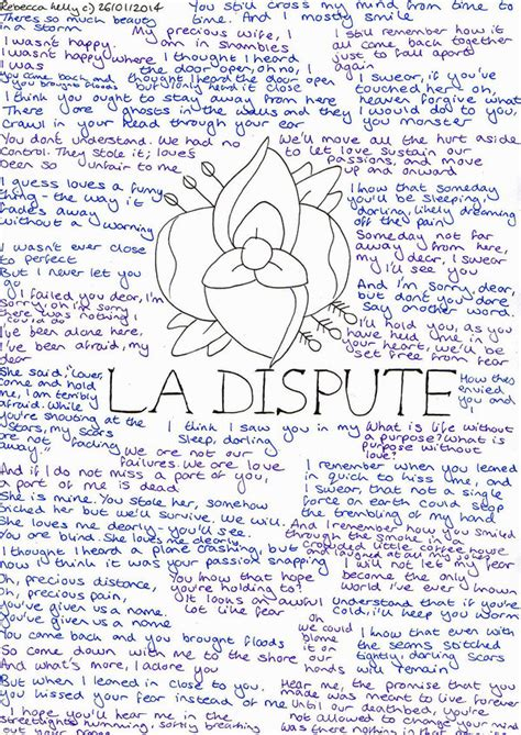 La Dispute Lyrics by becksbeck on DeviantArt