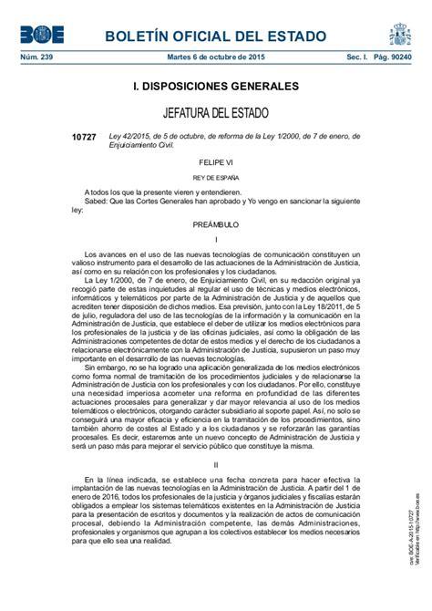 La Reforma De La Ley De Enjuiciamiento Civil Por La Ley De ...