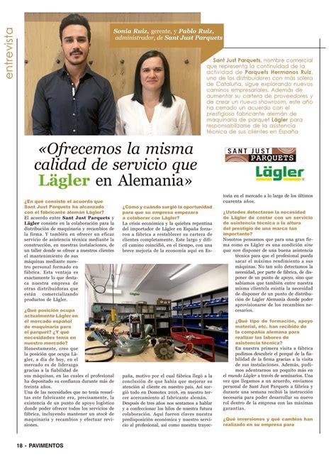 La revista Pavimentos entrevista a Sonia y Pablo Ruiz