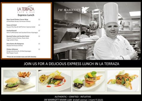 La Terraza   Menu   Picture of JW Marriott Miami, Miami ...