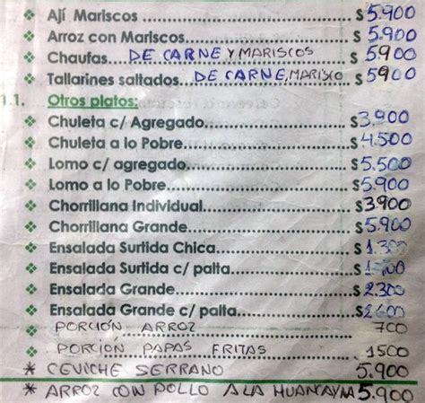 La Terraza Peruana Menu,Menú para La Terraza Peruana ...