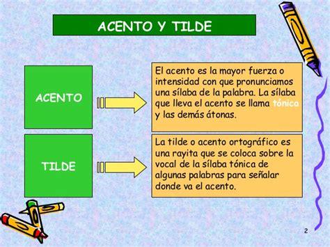 La tilde . reglas generales
