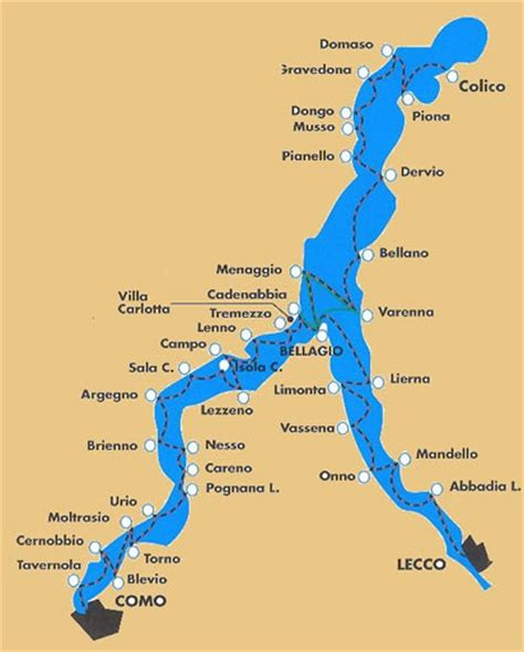 Lake Como Holidays   Sala Comacina Map