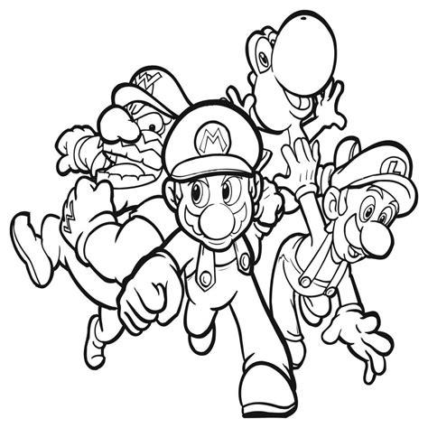 Laminas Para Colorear Coloring Pages Mario Y Luigi Para ...