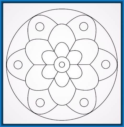 Las bonitas Mandalas para Pintar Faciles   Dibujos de Mandalas