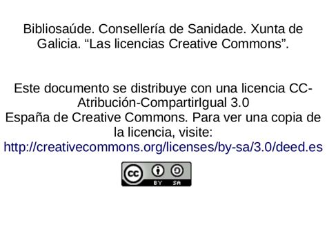 Las licencias Creative Commons