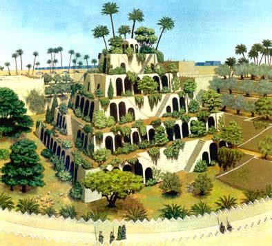 Las maravillas de mundo:  Los jardines colgantes de Babilonia