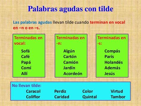 Las Palabras Agudas. | Blog Español CE1