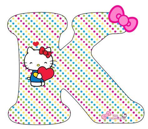 Letras de Hello Kitty Abecedario para imprimir gratis ...