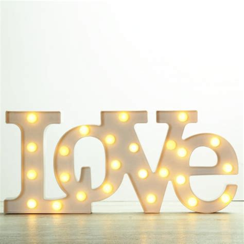 Letras Love luminosas | Una Boda Original
