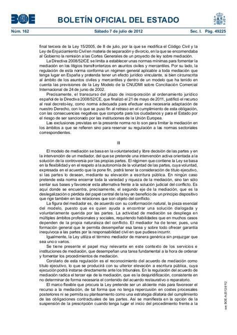 Ley 5/2012, de 6 de julio, de mediación en asuntos civiles ...