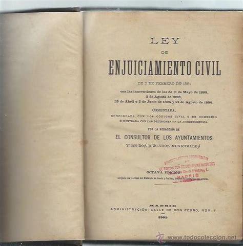 ley de enjuiciamiento civil 3 febrero 1881, el   Comprar ...